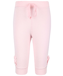 Cucumber Full Length Leggings Ruffle Detailing - Light Pink