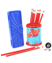 Mr. Clean Stationery Set Blue And Red - 14 Pieces