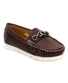Cute Walk Slip-On Moccasins - Coffee Brown