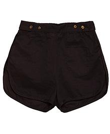 Solid Bipasha Shorts - Dark Navy