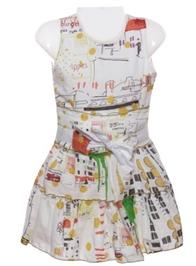 Sleeveless Dress - Multicoloured Design