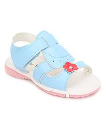 Cute Walk Sandals Flower Motif - Blue