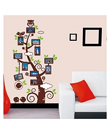 Studio Briana Colourful Tree With Photo Frame Wall Decal- Multi Color