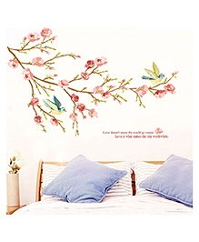 Studio Briana Branch In Blossom Hand Painted Wall Decal - Multi Color