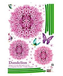 Studio Briana Allium Flowers Wall Decal - Pink