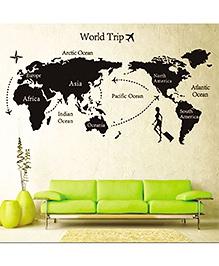 Studio Briana World Map Wall Sticker - Black