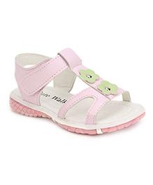 Cute Walk Floral Motif Sandals - Pink