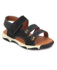 Cute Walk Open Toe Sandals - Black