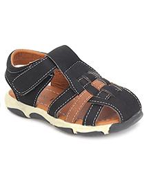 Cute Walk Closed Toe Sandals - Black And Brown