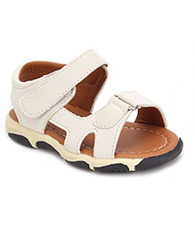 Cute Walk Sandals With Velcro Closure - Off White