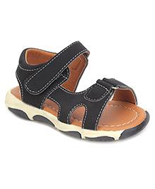 Cute Walk Sandals With Velcro Closure - Black