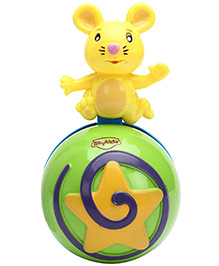 Mitashi Skykidz Mouse Roly Poly Musical Ball - Green & Yellow