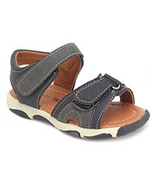 Cute Walk Sandals With Velcro Closure - Grey