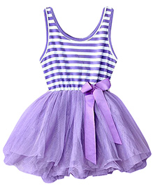 The KidShop Purple Striped Summer Dress