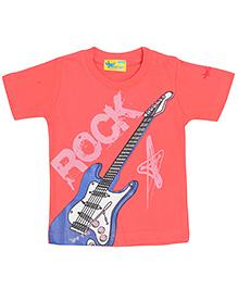 Grasshopper Juniors Glow In Dark T-Shirt Round Neck - Reddish Pink