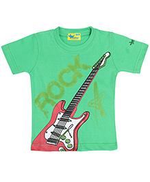 Grasshopper Juniors Glow In Dark T-Shirt Round Neck - Green