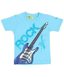 Grasshopper Juniors Glow In Dark T-Shirt Round Neck - Blue