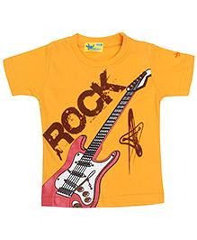 Grasshopper Juniors Glow In Dark T-Shirt Round Neck - Yellow