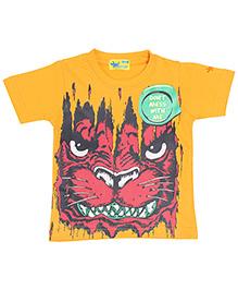 Grasshopper Juniors Glow In Dark T-Shirt Animal Design - Deep Yellow