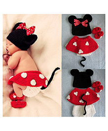 The Original Knit Minnie Mouse Skirt & Booties Set