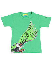Grasshopper Juniors Glow In Dark T-Shirt Eagle Design - Green