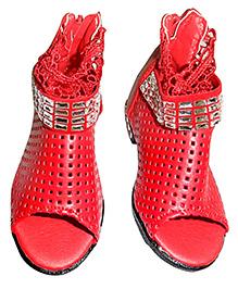 Lil Picks Mesh Sandals - Red