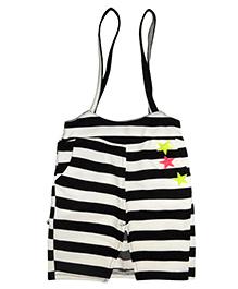 Lil Picks Star Adorned Dungaree Style Skirt - White
