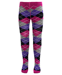 Mustang Footed Tights Stockings Abstract Print - Multi Color