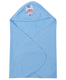Simply Hooded Towel Rabbit Patch - Blue