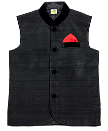 Little Stars Nehru Jacket - Black