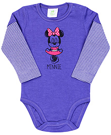 Fox Baby Full Sleeves Onesie Minnie Print - Purple