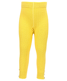 Mustang Thermal Legging With Buttons - Yellow