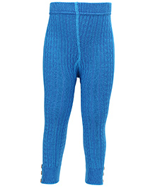 Mustang Thermal Legging With Buttons - Royal Blue