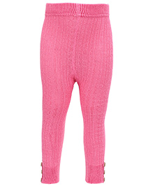 Mustang Thermal Legging With Buttons - Pink