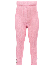 Mustang Thermal Legging With Buttons - Light Pink
