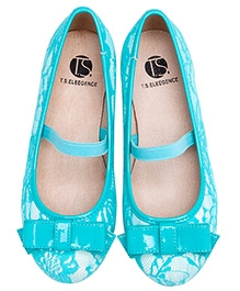 Peach Girl Lacey Belly Shoes - Blue