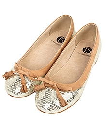 Peach Girl Glittery Belly Shoes - Silver