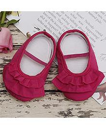 Dainty Little Ruffles Shoes - Fuschia