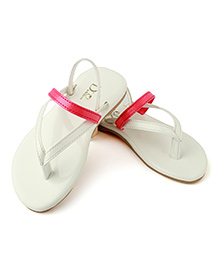 White 2 Strapped Flats