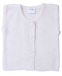 Babyhug Sleeveless Sweater - Off White