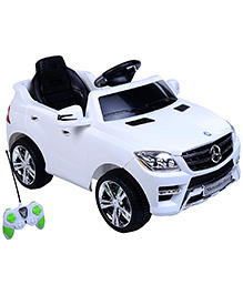 Battery Operated Ride On Car White And Black - QX 7996