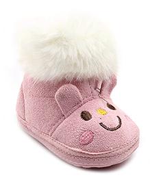 Cute Walk Rabbit Design Booties - Pink