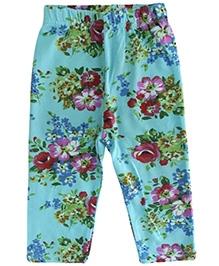 Lil Picks Floral Leggings - Blue