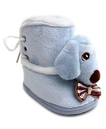 Cute Walk Puppy Design Booties - Blue