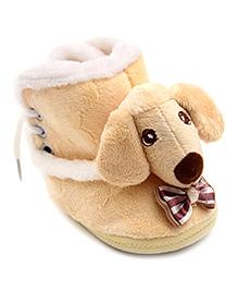 Cute Walk Puppy Design Booties - Pink
