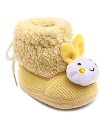 Cute Walk Booties Rabbit Face Motif - Yellow