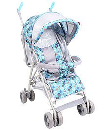 Baby Pram Cum Stroller Green And Grey - 301