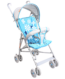 Light Weight Stroller Floral Print Blue And Grey  - KDD-803D