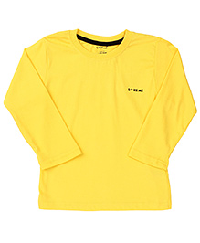 Doreme Full Sleeves T-Shirt Solid Colour - Yellow