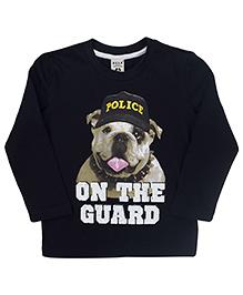 Sela Full Sleeves T-Shirt On The Guard Print - Navy Blue